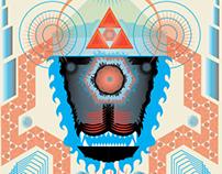 Máscara (Ilustración vectorial).