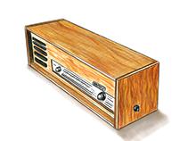 Vintage Radio Sketch