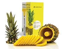 Cuisine Ninja Pineapple Slicer Package Design