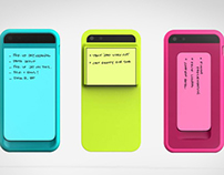 iPhone + Sticky Note Mashup