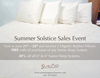 Organic Bedding Sales Poster - Canada