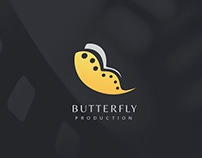 Butterfly Production Logo & Identity Design