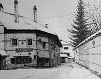 Bansko village in winter time