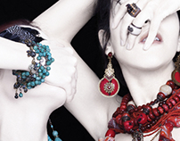 Jewelry shooting for FFDesigner magazine