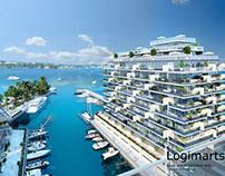 Resort Hotel Exterior 3D Visualization