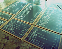 PAULIE'S MENU INSTALLATION.