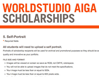 Client: Worldstudio AIGA Scholarships