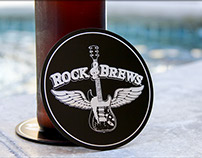 Black Metal Coasters for Rock & Brews