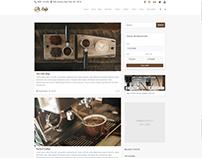 Blog Standard Right Sidebar - Cafe WordPress Theme