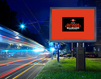 Free Outdoor City Street Billboard Mock-up For Advertis