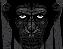 War of the Planet of the Apes- Vector Poster