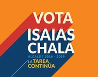 Isaías Chalá branding de campaña política