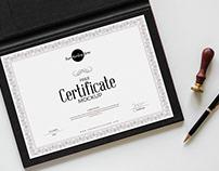 Free Certificate Mockup 2018