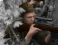 Soviet Snipers of WW2 // Colorization
