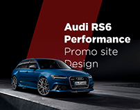 Design concept promo web site Audi RS6 Performance
