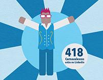Profissão Carnaval - Infográfico LinkedIn