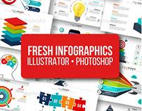 Fresh infographics pack