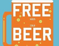 Free Hugs Cold Beer