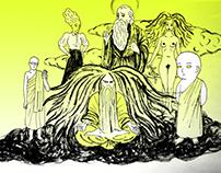 comics characters for petr merka´s book