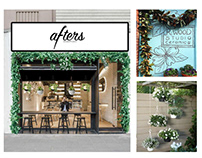 Concept for Afters, a desserts cafe