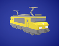Low poly trains