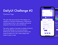 Checkout Page Design