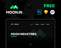 MOON.IN - Free Photoshop Sketch & Principle.