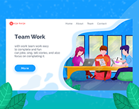 Landing Page - Team Work