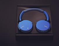 Sony MDR-XB950B1 Headset Rendering