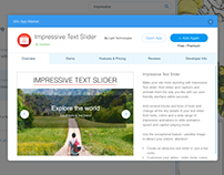 Web-application Impressive Text Slider