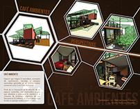 Café Ambientes. Diseño comercial Sostenible.