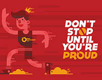 dont stop until you're pround