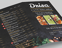Drisa - Food delivery 4-fold flyer