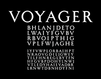Voyager – A Hand Lettered Typeface
