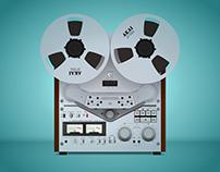 Akai Professional GX-6350 reel to reel tape recorder