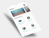 Daily Ui // Travelearth Mobile UI.