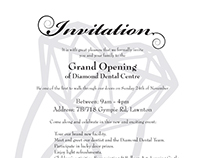 Diamond Dental Centre Grand Opening Invitation Flyer