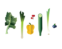 Nothing Deep -Just a Vegetable Illustration
