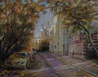 Голиковский переулок в октябре.