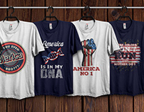 American T-Shirts Design Bundle