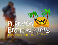 Pura Vida Backpacking Logo Design