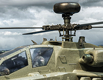 Apache Helicopter Texture & Render & Retouch
