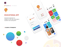 Educational App Design Free Download Adobe XD