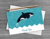 Orca Thank You Card
