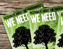 Layout design: Eco Warrior call-to-action poster/flyer