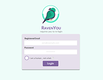 RavenYou - My own startup ( Early designs)