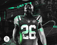 Le'Veon Bell NY Jets graphic