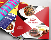 Menu Design for England based Pakistani Restaurant