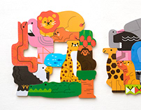 2-layer puzzle Animal Expedition