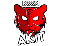 Doom akit logo design